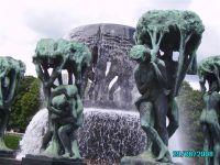 Fontanna w parku rzeźb w Oslo
