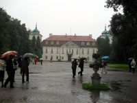 Deszczowy Nieborów