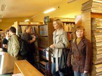 W tymczasowej bibliotece w Kiejdanach