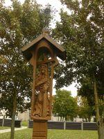Typowa litewska drewniana kapliczka