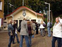 Przed kolejką górską w Kownie - jedyną na Litwie
