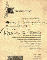 Muzeum Piernika - certyfikat