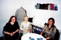Od lewej: Riin Olonen - przewodnicząca Estońskiego Konsorcjum Bibliotek, Dorota Sawicka - Dyrektor Biura Polskiego Związku Bibliotek, Janne Andresoo - przewodnicząca Estońskiego Stowarzyszenia Bibliotekarzy
